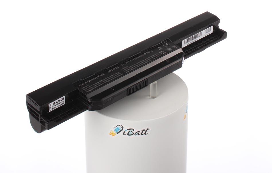 Аккумуляторная батарея A41-K53 для ноутбуков Asus. Артикул iB-A190H.Емкость (mAh): 7800. Напряжение (V): 10,8