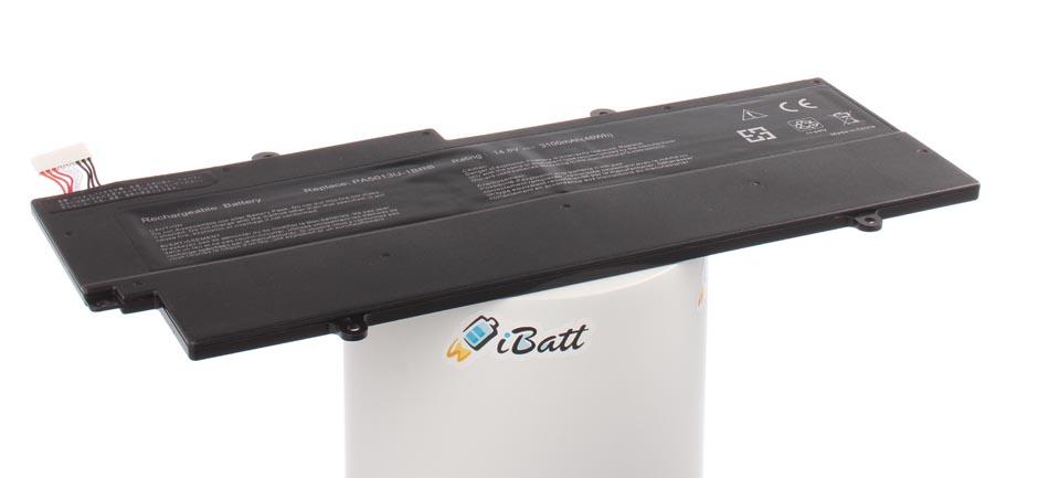 Аккумуляторная батарея для ноутбука Toshiba Portege Z835. Артикул iB-A887.Емкость (mAh): 3000. Напряжение (V): 14,8