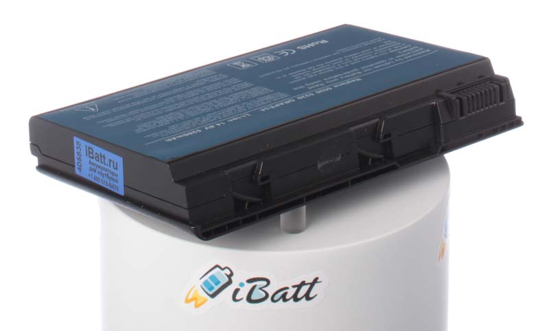 Аккумуляторная батарея для ноутбука Acer TravelMate 5530-702G16. Артикул iB-A134.Емкость (mAh): 4400. Напряжение (V): 14,8