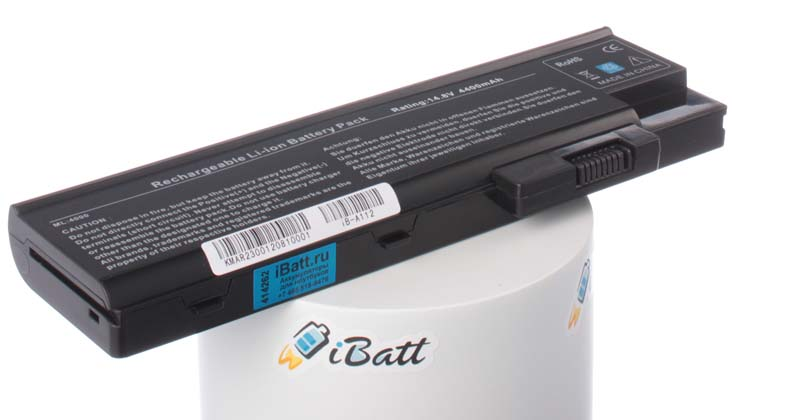 Аккумуляторная батарея для ноутбука Acer TravelMate 4604WLCi. Артикул iB-A112.Емкость (mAh): 4400. Напряжение (V): 14,8