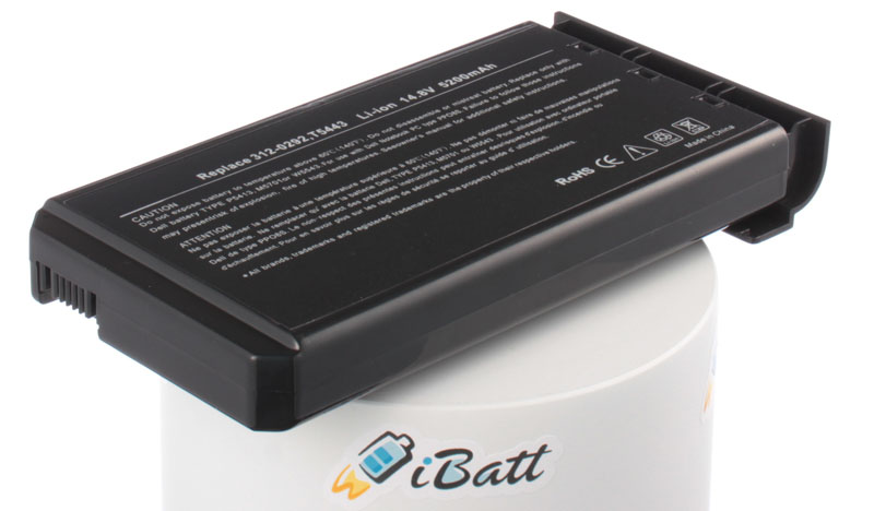 Аккумуляторная батарея PC-VP-WP66 для ноутбуков Dell. Артикул iB-A227H.Емкость (mAh): 5200. Напряжение (V): 14,8