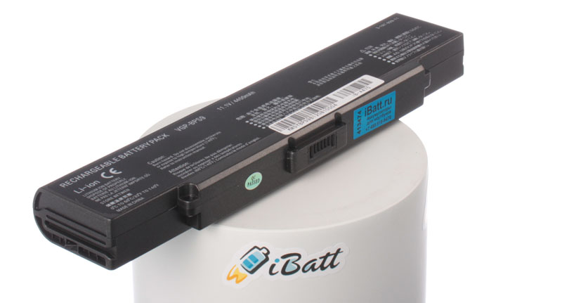 Аккумуляторная батарея iBatt iB-A475 для ноутбука SonyЕмкость (mAh): 4400. Напряжение (V): 11,1