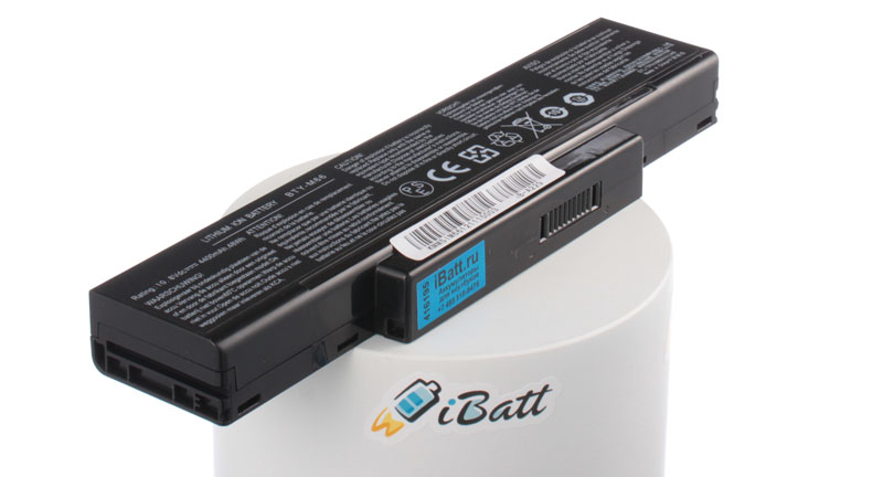 Аккумуляторная батарея BTY-M67 для ноутбуков Clevo. Артикул iB-A229.Емкость (mAh): 4400. Напряжение (V): 11,1
