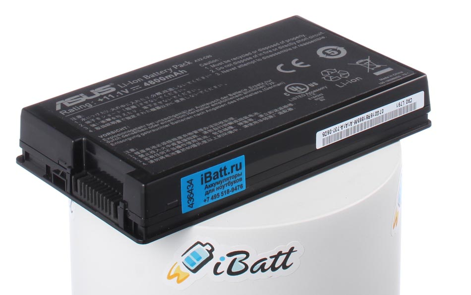 Аккумуляторная батарея для ноутбука Asus C90. Артикул iB-A680.Емкость (mAh): 4800. Напряжение (V): 11,1