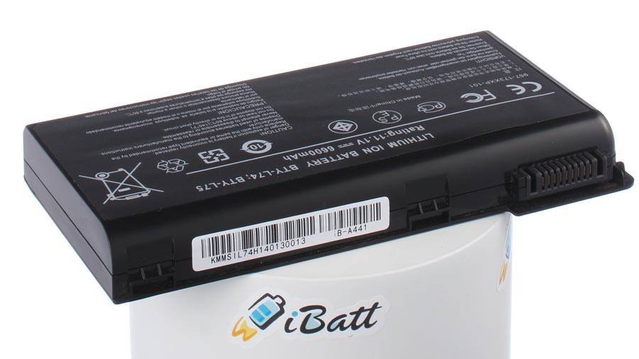Аккумуляторная батарея iBatt iB-A441 для ноутбука MSIЕмкость (mAh): 6600. Напряжение (V): 11,1