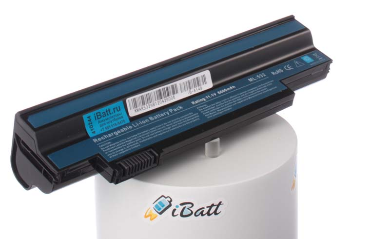 Аккумуляторная батарея UM09H36 для ноутбуков Packard Bell. Артикул iB-A148.Емкость (mAh): 6600. Напряжение (V): 10,8