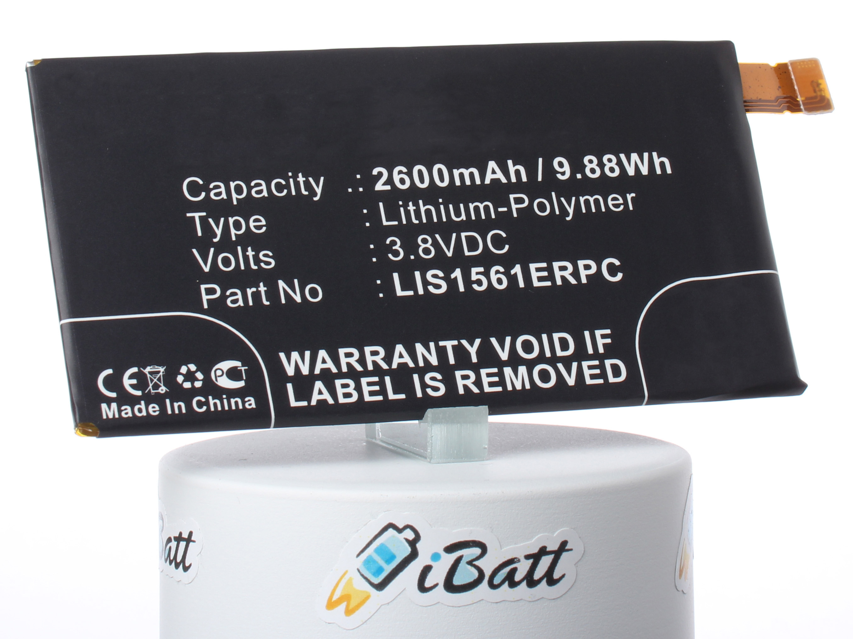 Аккумуляторная батарея LIS1561ERPC для ноутбуков Sony. Артикул iB-M890.Емкость (mAh): 2600. Напряжение (V): 3,8