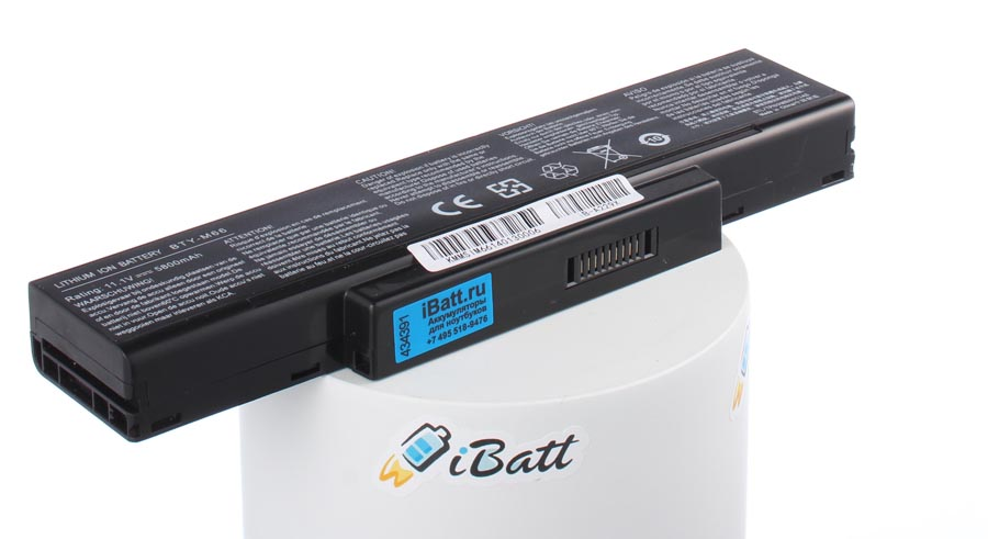 Аккумуляторная батарея SQU-503 для ноутбуков Clevo. Артикул iB-A229X.Емкость (mAh): 5800. Напряжение (V): 11,1