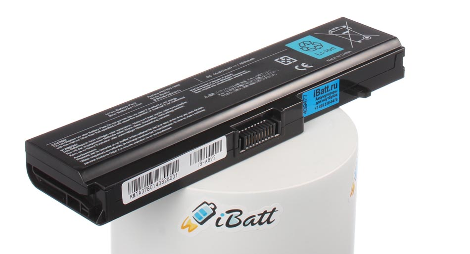 Аккумуляторная батарея iBatt iB-A892 для ноутбука ToshibaЕмкость (mAh): 4400. Напряжение (V): 10,8