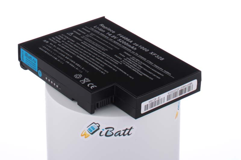 Аккумуляторная батарея 4UR18650F-2-QC-ET2T для ноутбуков HP-Compaq. Артикул iB-A518H.Емкость (mAh): 5200. Напряжение (V): 14,8