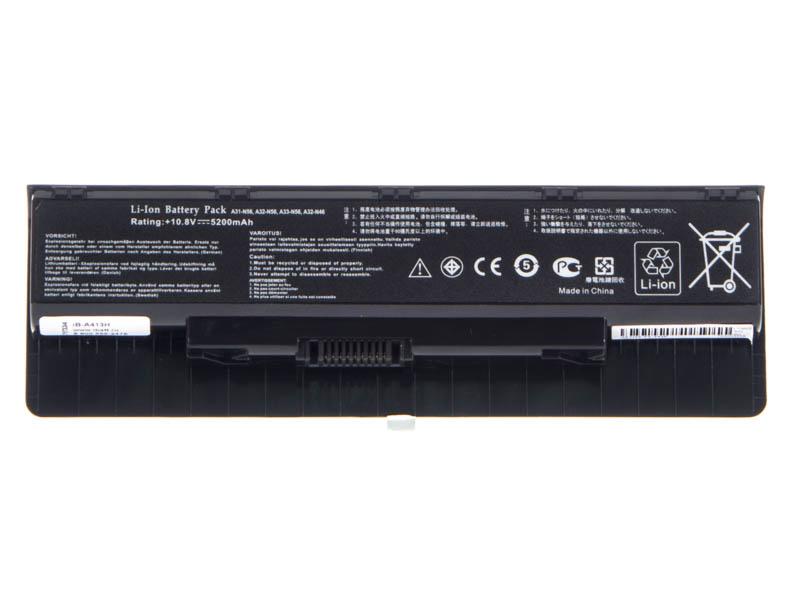 Аккумуляторная батарея A31-N56 для ноутбуков Asus. Артикул iB-A413H.Емкость (mAh): 5200. Напряжение (V): 10,8