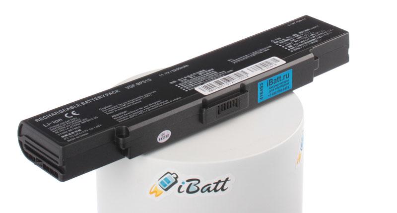 Аккумуляторная батарея VGP-BPL10 для ноутбуков Sony. Артикул iB-A581H.Емкость (mAh): 5200. Напряжение (V): 11,1