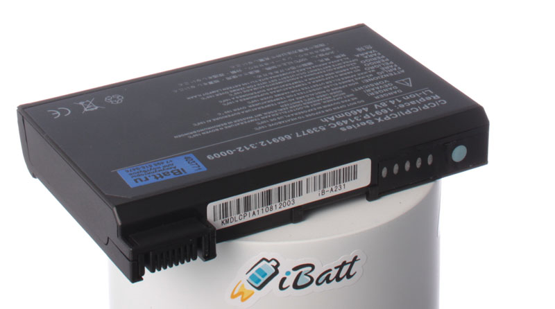 Аккумуляторная батарея 312-0052 для ноутбуков Dell. Артикул iB-A231.Емкость (mAh): 4460. Напряжение (V): 14,8