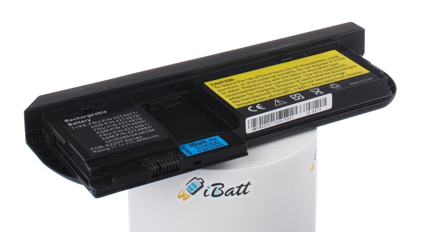 Аккумуляторная батарея 42T4877 для ноутбуков IBM-Lenovo. Артикул iB-A414.Емкость (mAh): 4400. Напряжение (V): 11,1