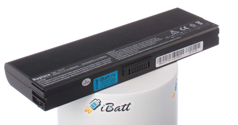 Аккумуляторная батарея для ноутбука Asus F6V-3P180E. Артикул iB-A108.Емкость (mAh): 6600. Напряжение (V): 11,1