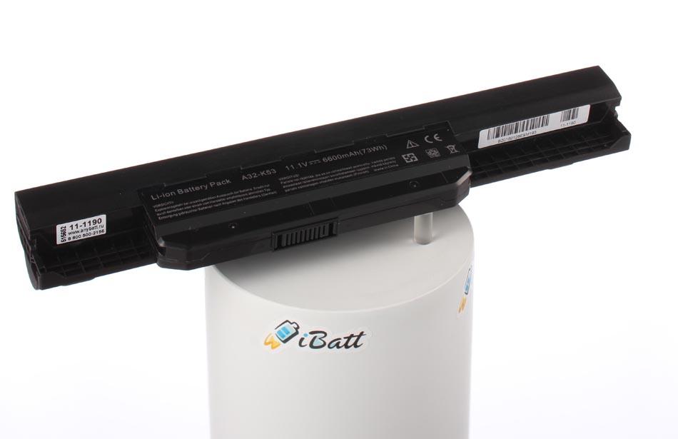 Аккумуляторная батарея A32-K53 для ноутбуков Asus. Артикул 11-1190.Емкость (mAh): 6600. Напряжение (V): 10,8