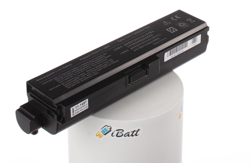 Аккумуляторная батарея PA3817U-1BAS для ноутбуков Toshiba. Артикул 11-1497.Емкость (mAh): 6600. Напряжение (V): 10,8