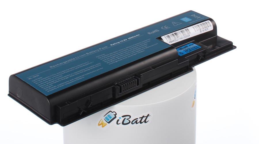 Аккумуляторная батарея для ноутбука Acer Aspire 7520G-403G16MI. Артикул iB-A142X.Емкость (mAh): 5800. Напряжение (V): 14,8