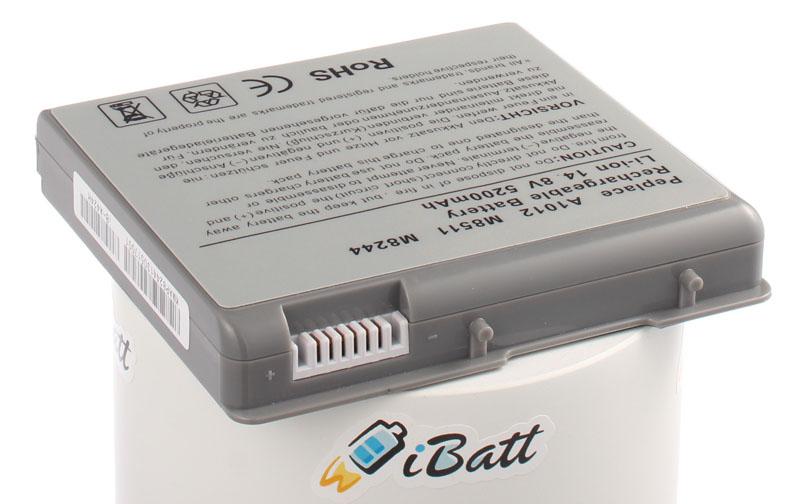 Аккумуляторная батарея A1012 для ноутбуков Apple. Артикул iB-A424H.Емкость (mAh): 5200. Напряжение (V): 14,8
