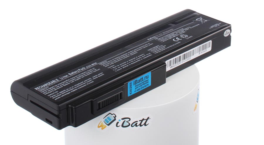 Аккумуляторная батарея A32-X64 для ноутбуков Asus. Артикул iB-A162X.Емкость (mAh): 8700. Напряжение (V): 11,1