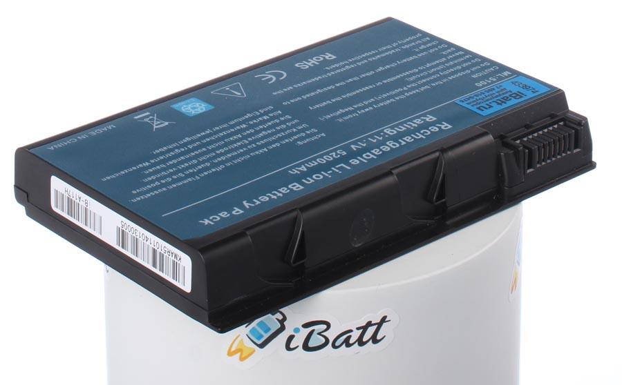 Аккумуляторная батарея iBatt iB-A117H для ноутбука AcerЕмкость (mAh): 5200. Напряжение (V): 14,8