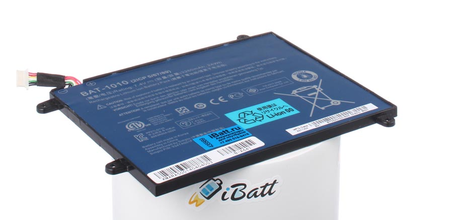 Аккумуляторная батарея 934TA001F для ноутбуков Acer. Артикул iB-A641.Емкость (mAh): 3250. Напряжение (V): 7,4