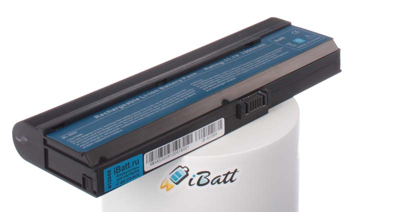 Аккумуляторная батарея для ноутбука Acer TravelMate 2404WXMi. Артикул iB-A138H.Емкость (mAh): 7800. Напряжение (V): 11,1