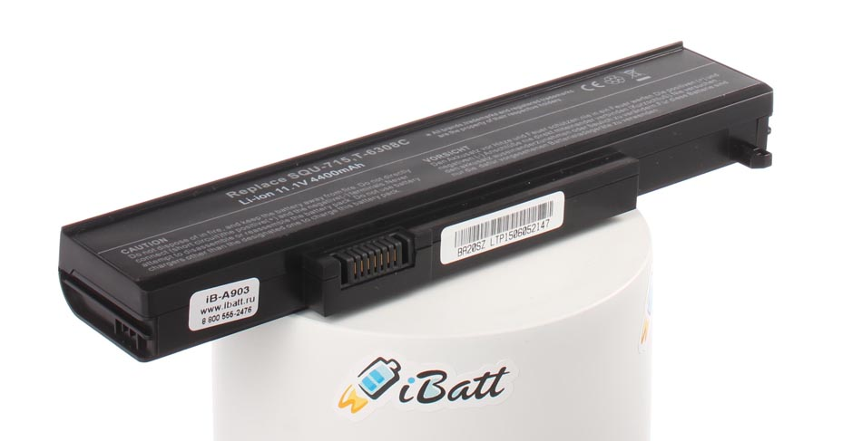 Аккумуляторная батарея B1865060GA0019 для ноутбуков Gateway. Артикул iB-A903.Емкость (mAh): 4400. Напряжение (V): 11,1
