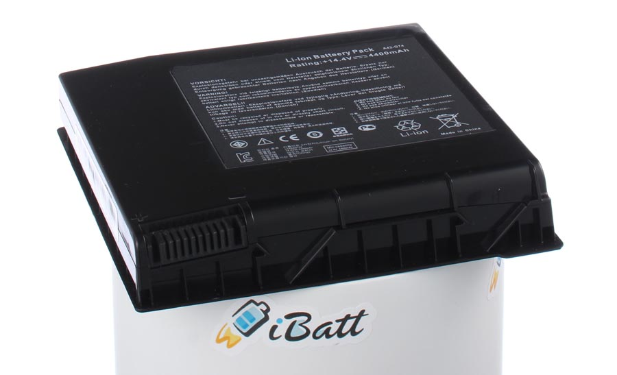 Аккумуляторная батарея для ноутбука Asus G74. Артикул iB-A406.Емкость (mAh): 4400. Напряжение (V): 14,8