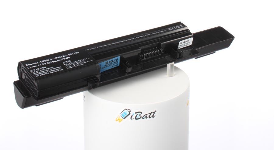 Аккумуляторная батарея 7W5X09C для ноутбуков Dell. Артикул iB-A741.Емкость (mAh): 4400. Напряжение (V): 14,8