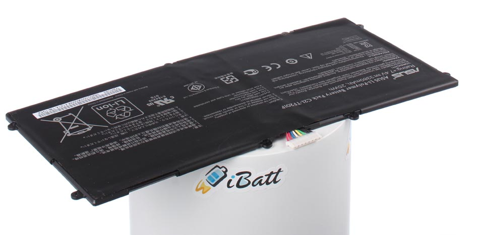 Аккумуляторная батарея для ноутбука Asus Eee Pad Transformer TF201 Prime. Артикул iB-A658.Емкость (mAh): 3380. Напряжение (V): 7,4