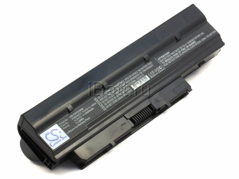 Аккумуляторная батарея CL4215B.806 для ноутбуков Toshiba. Артикул iB-A883.Емкость (mAh): 6600. Напряжение (V): 10,8