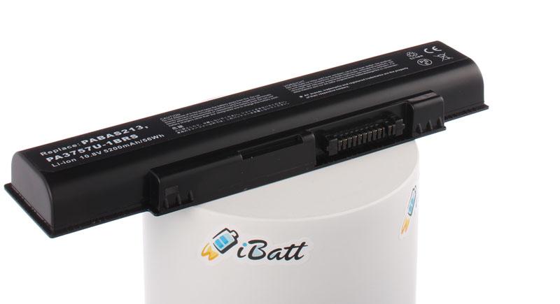 Аккумуляторная батарея iBatt iB-A401H для ноутбука ToshibaЕмкость (mAh): 5200. Напряжение (V): 11,1