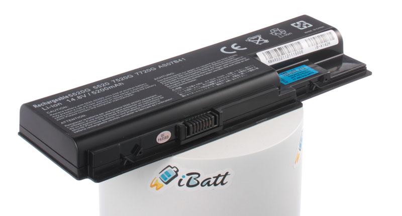 Аккумуляторная батарея для ноутбука Acer Aspire 5315-051G08Mi. Артикул iB-A142H.Емкость (mAh): 5200. Напряжение (V): 14,8