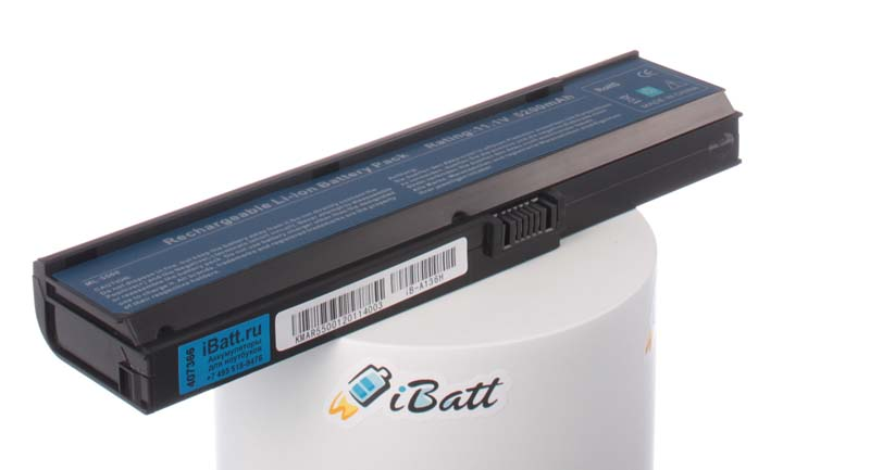 Аккумуляторная батарея для ноутбука Acer TravelMate 2404NWXM. Артикул iB-A136H.Емкость (mAh): 5200. Напряжение (V): 11,1