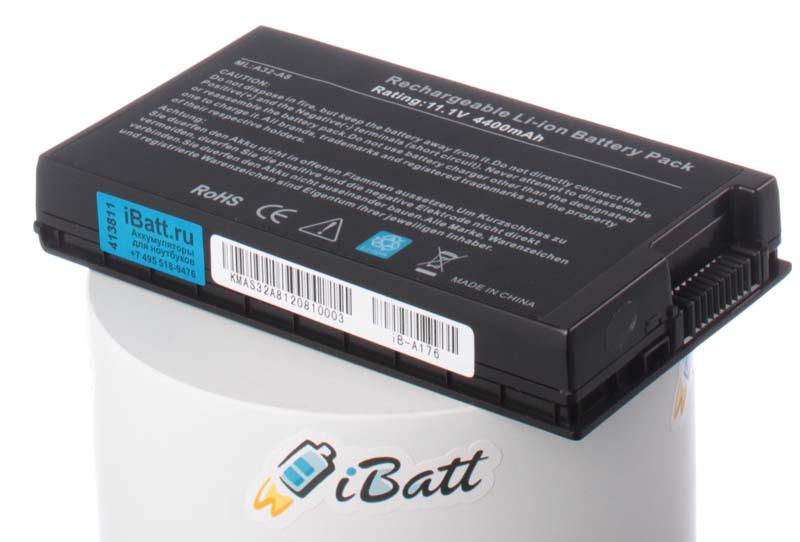 Аккумуляторная батарея для ноутбука Asus X80. Артикул iB-A176.Емкость (mAh): 4400. Напряжение (V): 11,1