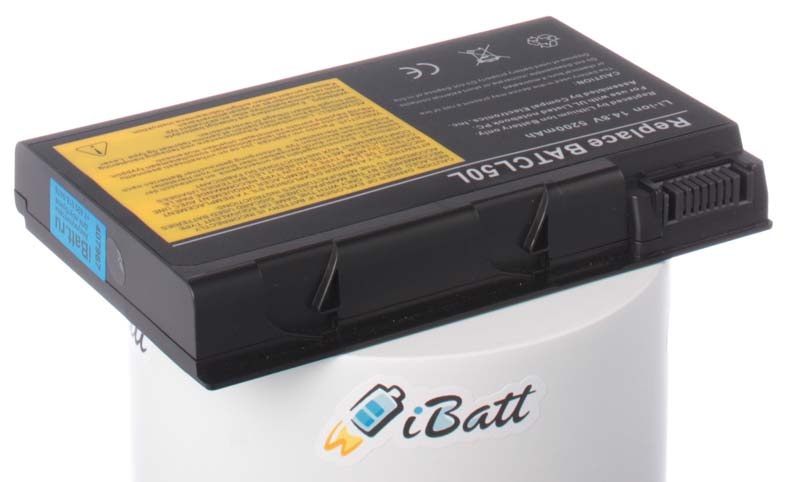 Аккумуляторная батарея для ноутбука Acer TravelMate 4052WLMi. Артикул iB-A115H.Емкость (mAh): 5200. Напряжение (V): 14,8