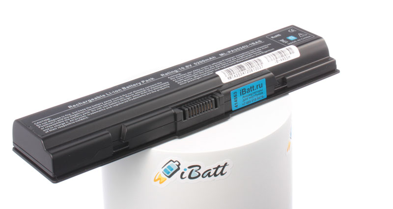 Аккумуляторная батарея PA3535U-1BAS для ноутбуков Toshiba. Артикул iB-A455H.Емкость (mAh): 5200. Напряжение (V): 10,8